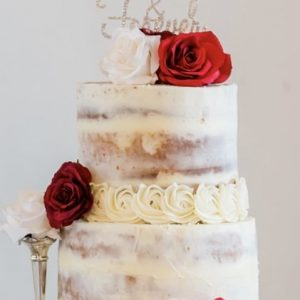 Image of Wedding Cake - two tiers and three layers
