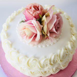 Image of single tier Wedding Cake